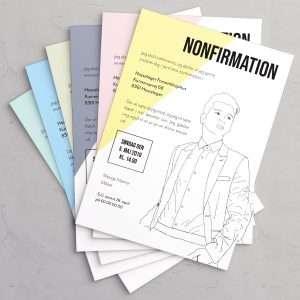 Suit Up! nonfirmationsinvitation i farverne Seafoam, Ice Blue, Mint, Slate, Petal og Limoncello.
