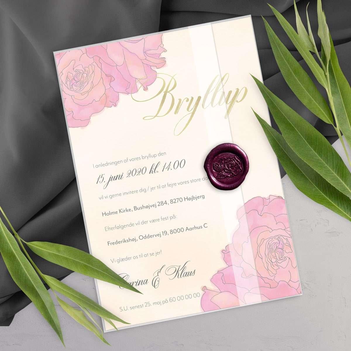 Bryllupsinvitation Classic Blue Premium Bundle