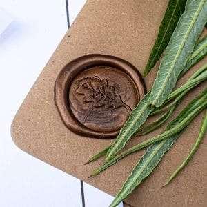 Laksegl Oak Leaf Bronze - med egeblad