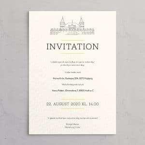Varna Bryllupsinvitation Akvarel
