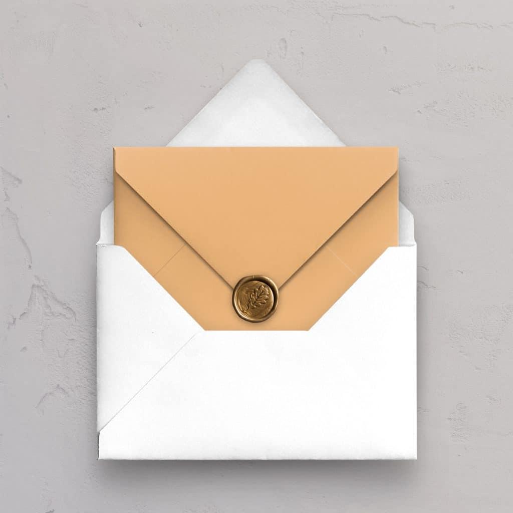 B5 kuvert til beskyttelse af din C5 kuvert med laksegl