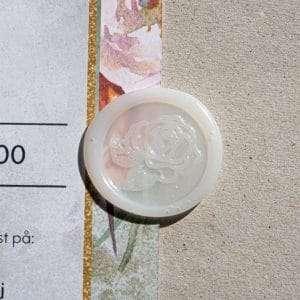Laksegl Limited Edition Rose et semi-transparent laksegl med rose