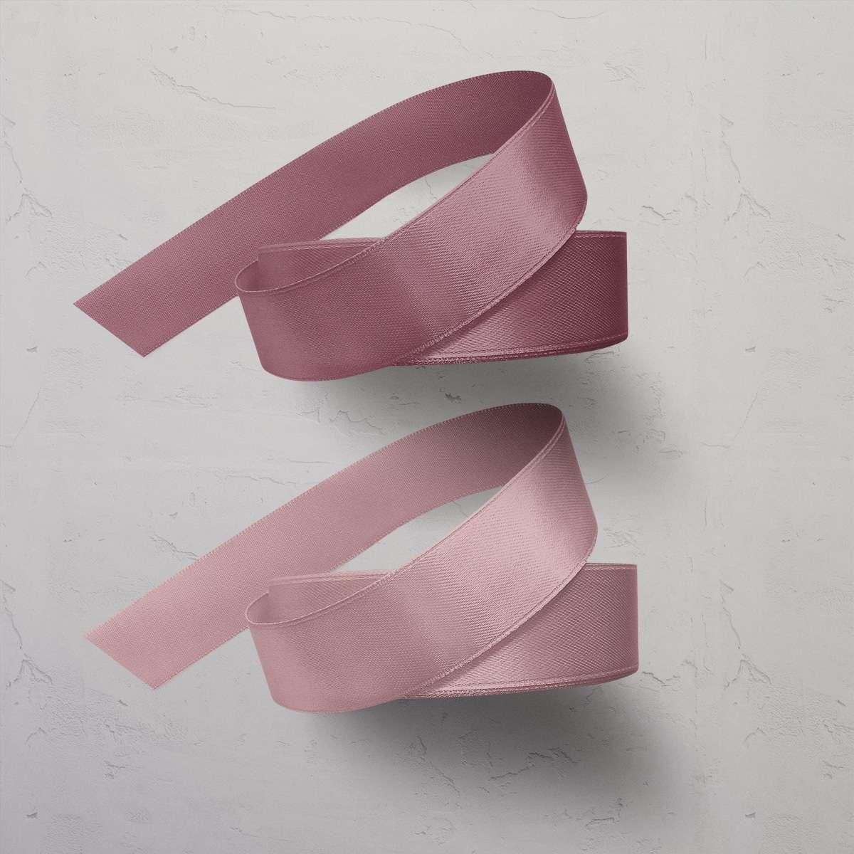 Satinbånd Rosa, pink og lilla nuancer til bryllupsinvitation 100% kvalitets polyester satinbånd i farverne: støvet rosa og mørk rosa