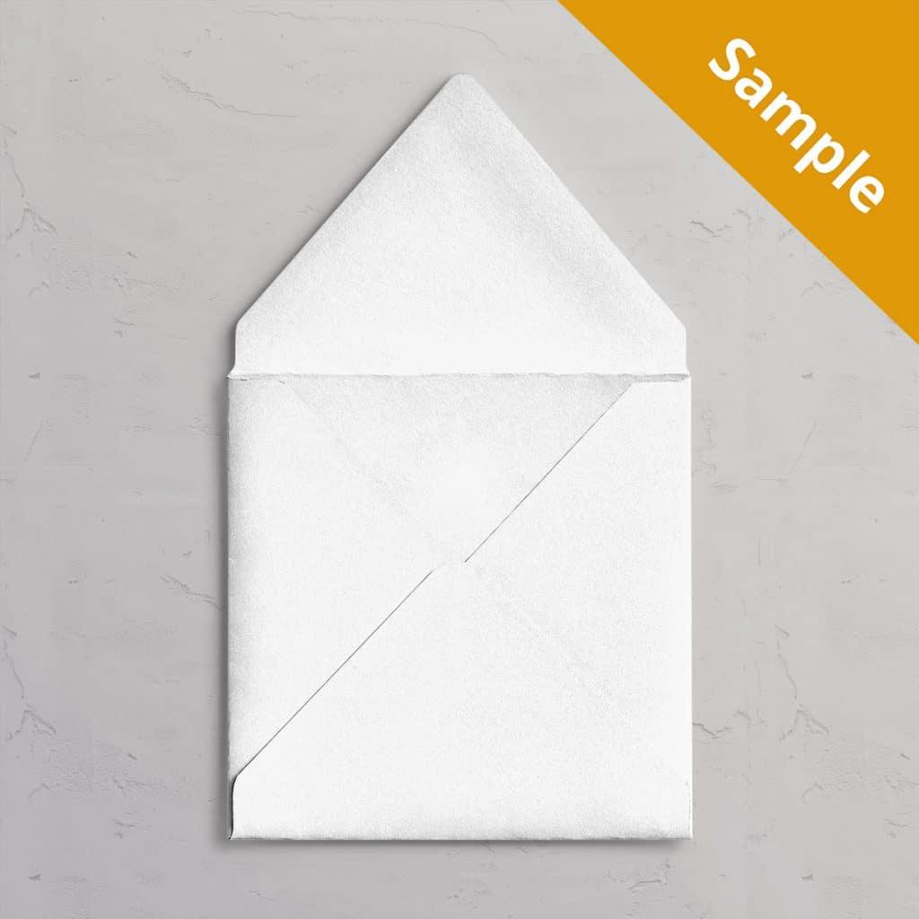 Kvadratisk Hvid kuvert 155x155 mm sample / vareprøve til bryllupsinvitation