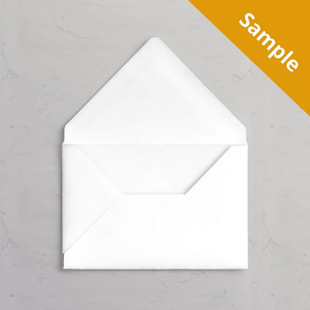 C5 Hvid kuvert sample / vareprøve til bryllupsinvitation