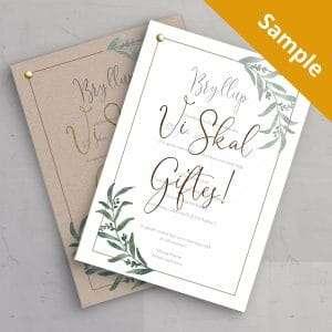 Sample på Bryllupsinvitationen Golden Branches med guldfolie eller på genbrugspapir