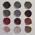 Laksegl Monogram Vertical: Carbon, Silver, Heirloom Silver, Lilac Gray, Lavender, Vino, Sangria, Mulberry, Vintage Rose, Dusty Rose, Linen, Cafe