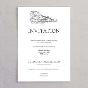 Bryllupsinvitation Marienlyst Strandhotel - perfekt til et bryllup på Marienlyst Strandhotel
