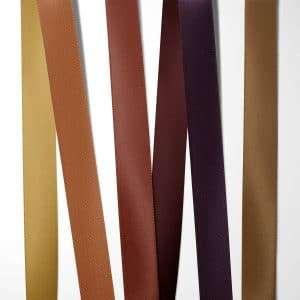 Satinbånd Varme nuancer til efterårsbryllup 100% kvalitets polyester satinbånd i farverne: guld / varm gylden, kobber / brænd orange, rustrød, vinrød, blomme / dyb lilla