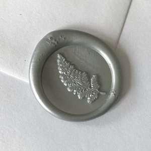 Laksegl Fern Silver / sølv med bregne